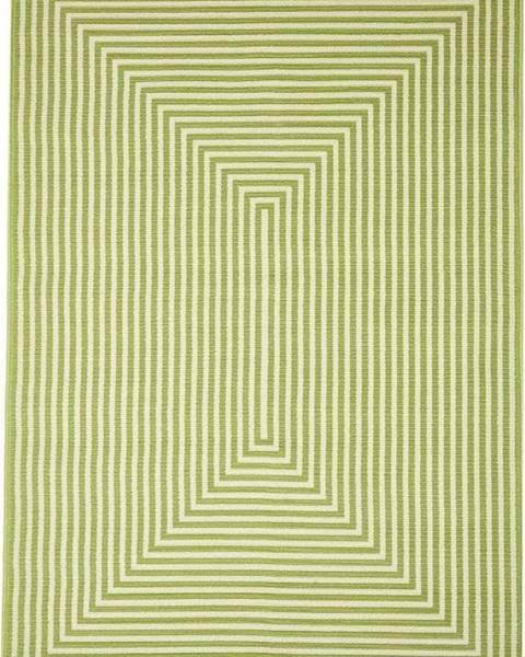 Floorita Zelený venkovní koberec Floorita Braid, 160 x 230 cm