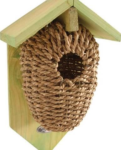 Ptačí budka z mořské trávy Esschert Design, výška26.2 cm