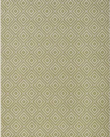 Zelený venkovní koberec Bougari Karo, 140x200cm