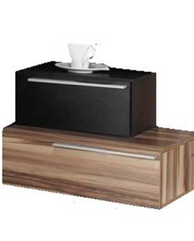 noční stolek MARIANNA, černá/ořech baltimore