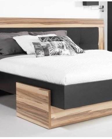 postel MARIANNA, černá/ořech baltimore