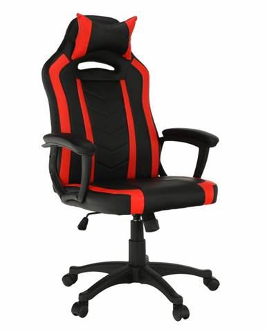 Tempo Kondela Herní židle Agena, černá/červená