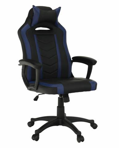 Tempo Kondela Herní židle Agena, černá/modrá