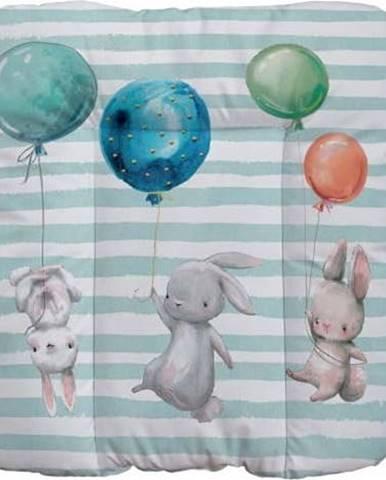 Přebalovací podložka Mr. Little Fox Flying Bunnies, 75 x 70 cm