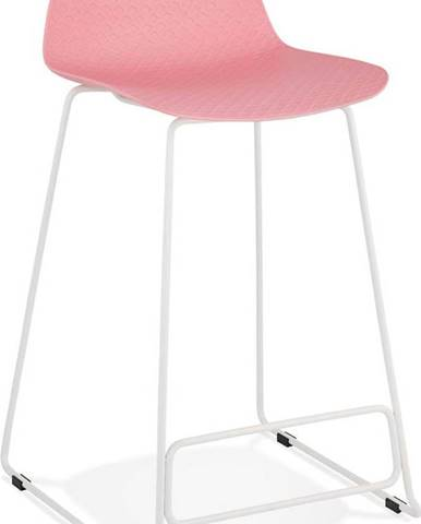 Růžová barová židle Kokoon Slade Mini, výškasedu66cm