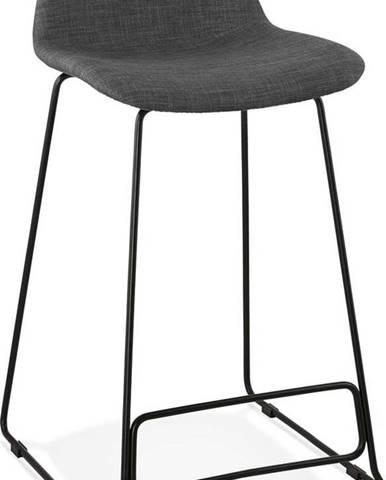 Tmavě šedá barová stolička Kokoon Vancouver Mini, výškasedu66cm
