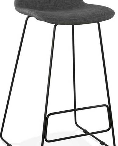 Tmavě šedá barová stolička Kokoon Vancouver, výškasedu76cm