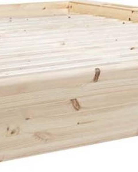 Karup Design Dvoulůžková postel z masivního dřeva s úložným prostorem Karup Design Ziggy, 140 x200cm