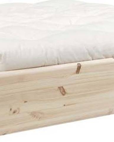 Dvoulůžková postel z masivního dřeva s úložným prostorem a futonem Double Latex Mat Karup Design, 160x200cm