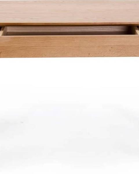 Unique Furniture Psací stůl se zásuvkou a nohami z dubového dřeva Unique Furniture Rho,120x60cm