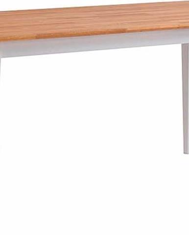 Přírodní dubový jídelní stůl s bílými nohami Rowico Mimi, 180 x 90cm