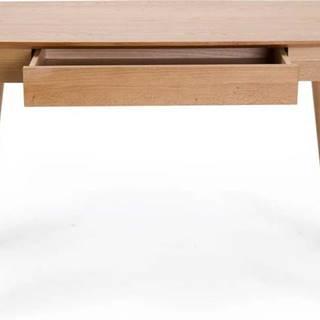 Psací stůl se zásuvkou a nohami z dubového dřeva Unique Furniture Rho,120x60cm