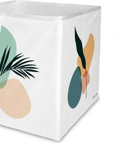Bílý úložný box z mikrovlákna Butter Kings Botanical Art,32l