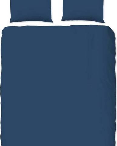 Modré bavlněné povlečení na dvoulůžko Good Morning Universal, 200 x 220 cm