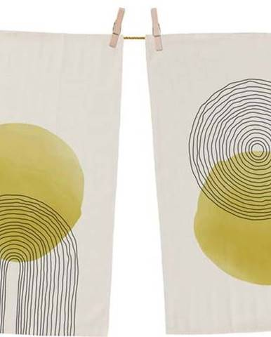 Sada 2 bavlněných kuchyňských utěrek Butter Kings Rising Sun, 70 x 50 cm