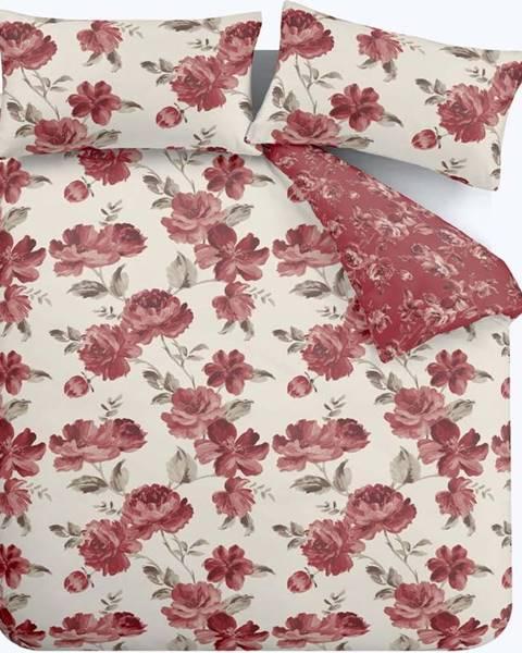 Catherine Lansfield Červené povlečení Catherine Lansfield Painted Floral, 135 x 200 cm