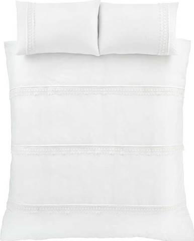 Bílé povlečení Catherine Lansfield Delicate Lace, 200 x 200 cm