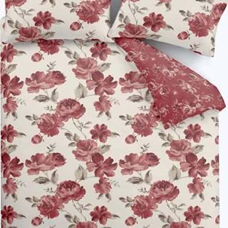Červené povlečení Catherine Lansfield Painted Floral, 135 x 200 cm