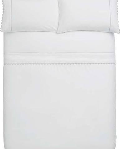 Bílé povlečení z egyptské bavlny Bianca Ric Rac, 135 x 200 cm