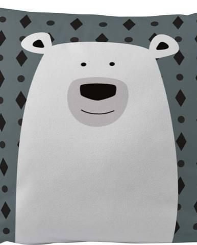 Povlak na polštář z bavlněného saténu Mr. Little Fox Fox Polar Bear, 50x50cm