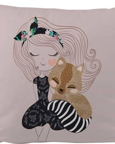 Povlak na polštář z bavlněného saténu Mr. Little Fox Fox Two Princesses, 50x50cm