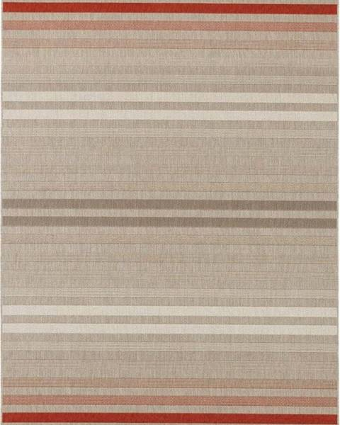 Bougari Červeno-krémový venkovní koberec Bougari Paros, 120 x 170 cm