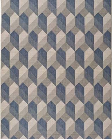 Béžovomodrý venkovní koberec Universal Silvana Miratta, 120x170cm