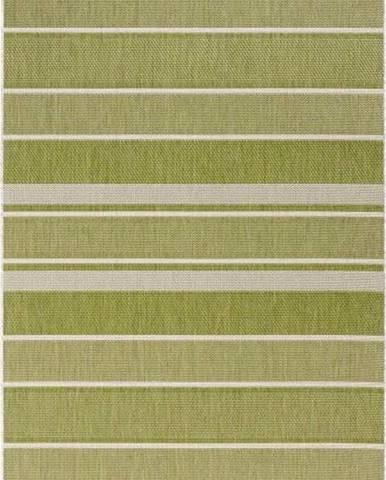 Zelený venkovní koberec Bougari Strap, 80x200cm