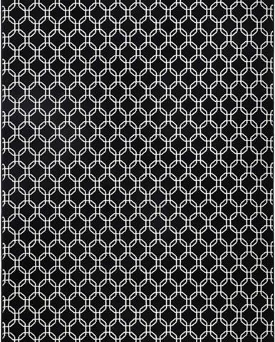 Černý koberec Hanse HomeChain, 140x200cm