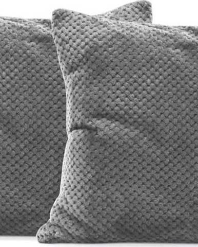 Sada 2 šedých povlaků na polštáře z mikrovlákna DecoKing Henry, 45 x 45 cm