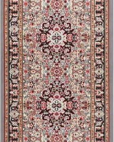 Šedo-hnědý koberec Nouristan Skazar Isfahan, 80 x 250 cm
