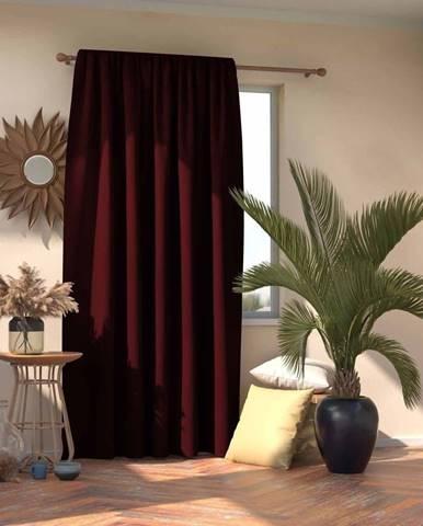 Tmavě červený závěs AmeliaHome Burgundy,140x245cm