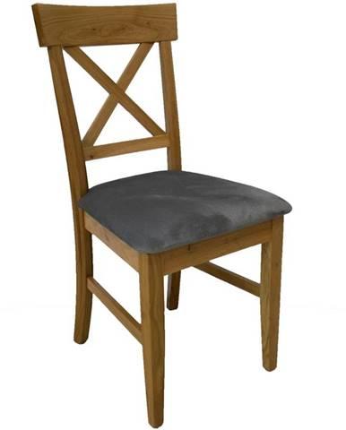 Židle Kr-01 Dub Tk. Šedá Ar-11046