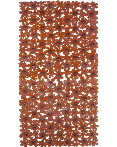 BAUMAX Vanová podložka 68x33 j-6833 květiny hnědá