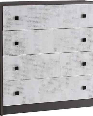 Komoda Tommy 90 cm, grafit / enigma