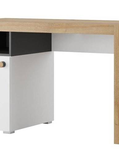 Psací Stůl Riva 125 cm Černá Mat/Dub Riviera/Bílý