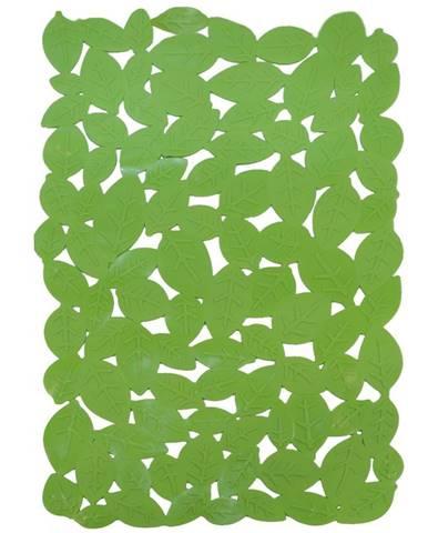 Vanová podložká list 65x35 j-6535 zelená