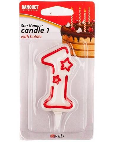 """Narozeninová svíčka """"1"""" 4430101"""