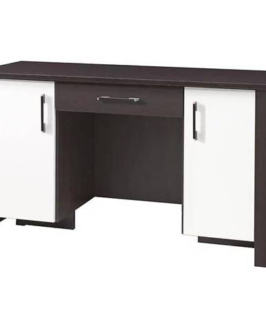 Psací Stůl Cezar 140 cm Milano/Bílý