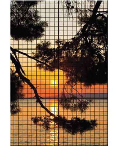 Dekor skleněná mozaika - západ slunce 90/60