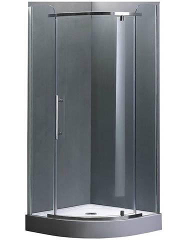 Sprchový kout čtvrtkruhový Elba 90 čiré sklo - chrom
