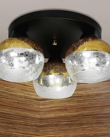 Stropní lampa Cromina Gold Plafon kulatá 3x60w E27 černá