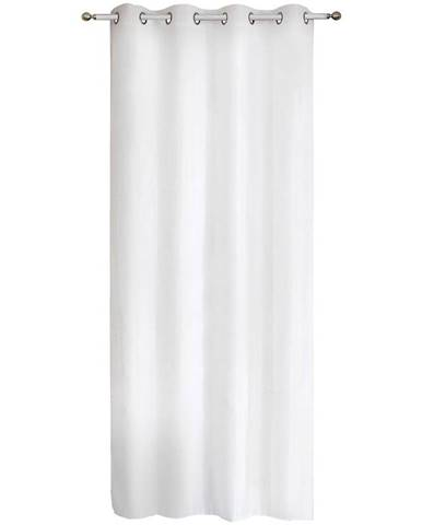 Závěs s kroužky Piryt 140x250 bílý