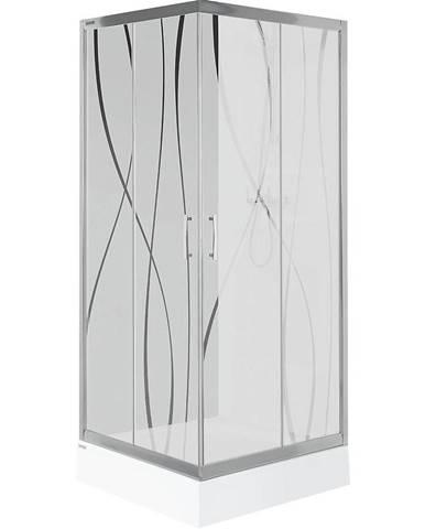 Sprchový kout čtvercový kw kn/tx5b 80 w15 sb glass protect