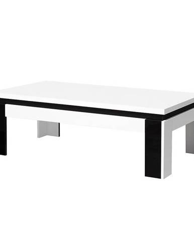 Konferenční stolek 125 cm, bílá / černá