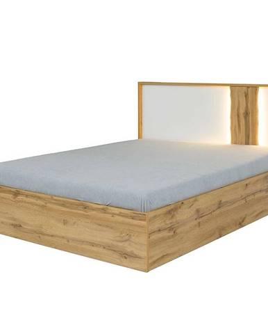 Postel Wood Bez Úložného Prostoru 160cm Bílá/Wotan