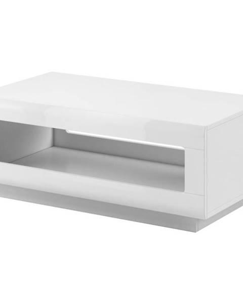 BAUMAX Konferenční Stolek Tulsa 110 cm Bílá Lesk