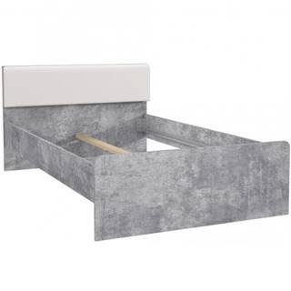 Postel Canmore 120cm Beton/Bílý Lesk