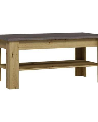 Konferenční Stolek XL 60cm Dub Artisan / Smooth Grey, ST