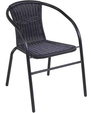 Židle ratan Bistro černé